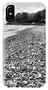Lake Erie Coast Black And White IPhone Case