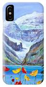 Lake Louise Poppies IPhone Case