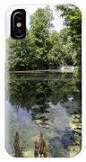 Lake On The Magnolia Plantation With White Bridge IPhone Case