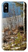 Lake Partly Covered With Ice In Early Spring IPhone Case