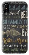 Lake Rules-relax IPhone Case