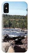 Lake Superior Shoreline Abstract IPhone Case