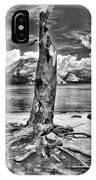 Lake Tenaya Giant Stump Black And White IPhone Case