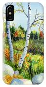 Lakeside Birches IPhone Case