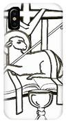 Lamb And Book IPhone Case