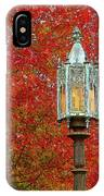 Lamp Post In Fall IPhone Case