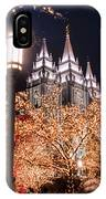 Lamp Post Slc Temple IPhone Case