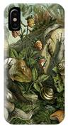 Land Molluscs Or Snails And Slugs IPhone Case
