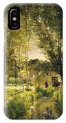 Landscape With A Sunlit Stream IPhone Case