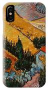 Landscape With House And Ploughman IPhone Case