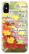 Lantana Greeting Card With Verse IPhone Case