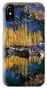Larch Tree Reflection In Leprechaeun Lake  IPhone Case