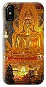 Large Buddha Image In Wat Tha Sung Temple In Uthaithani-thailand IPhone Case
