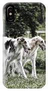 Large Dogs On The Prowl IPhone Case