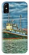 Large Fishing Boat Hdr IPhone Case
