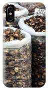 Large Sacks With Dried Mushrooms IPhone Case