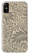 Larkspur Wallpaper Design IPhone Case by William Morris
