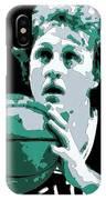 Larry Bird Poster Art IPhone Case