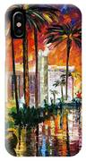 Las Vegas - Palette Knife Oil Painting On Canvas By Leonid Afremov IPhone Case