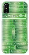Las Vegas Street Road Signs  IPhone Case