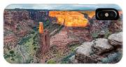 Last Light On Spider Rock Canyon De Chelly Navajo Nation Chinle Arizona IPhone Case