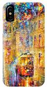 Last Trolley - Palette Knife Oil Painting On Canvas By Leonid Afremov IPhone Case
