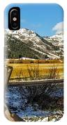 Late Spring Snow At Squaw IPhone Case