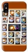 Latte Art Collage IPhone Case