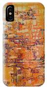 Lattice Animals Abstract Oil Painting By Regina Valluzzi IPhone Case