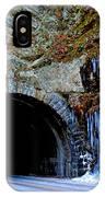 Laurel Creek Road Tunnel IPhone Case