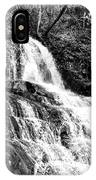 Laurel Falls Smoky Mountains 2 Bw IPhone Case