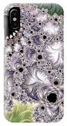 Lavender And Green Fractal Abstract  IPhone Case