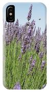 Lavender And The Bee IPhone Case