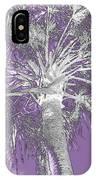 Lavender Glow Palm Tree Myakka River State Park Usa IPhone Case