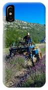 Lavender Harvest In Provence IPhone Case