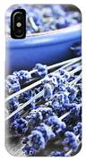 Lavender Herb And Essential Oil IPhone Case
