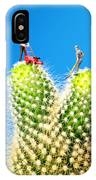 Lawn Mowing On Cactus IPhone Case