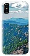 Layers Of Mountains From Watchman Overlook In Crater Lake National Park-oregon  IPhone Case