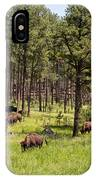 Lazily Grazing Bison IPhone Case