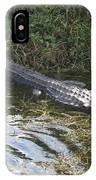 Lazy Alligator IPhone Case