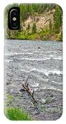 Le Hardy Rapids Of Yellowstone River In Yellowstone River In Yellowstone National Park-wyoming   IPhone Case