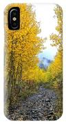 Leaf Covered Rocky Road IPhone Case