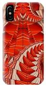 Leaf Pattern In Red IPhone Case