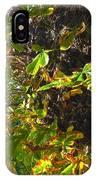 Leafy Tree Bark Image IPhone Case