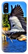 Leaping Egret IPhone Case