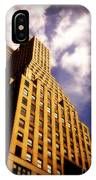 Leaps Tall Buildings With A Single Bound - Skyscraper IPhone Case