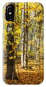 Leaves In The Woods IPhone Case