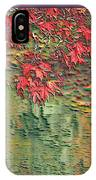 Leaves On The Creek 3 With Small Border 3 IPhone Case