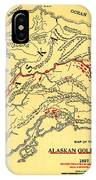 Lees Map Of The Alaskan Gold Fields 1897 IPhone Case
