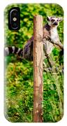 Lemur In The Green IPhone Case